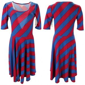 NWT | LuLaRoe | Nicole Fit & Flare Striped Dress